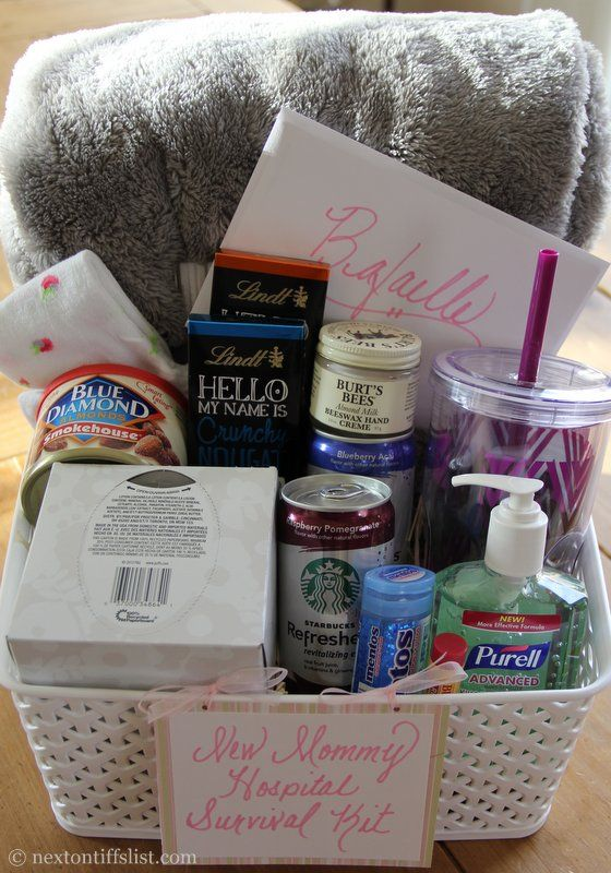 Baby Gift Ideas For Hospital : New mommy hospital survival kit or home from