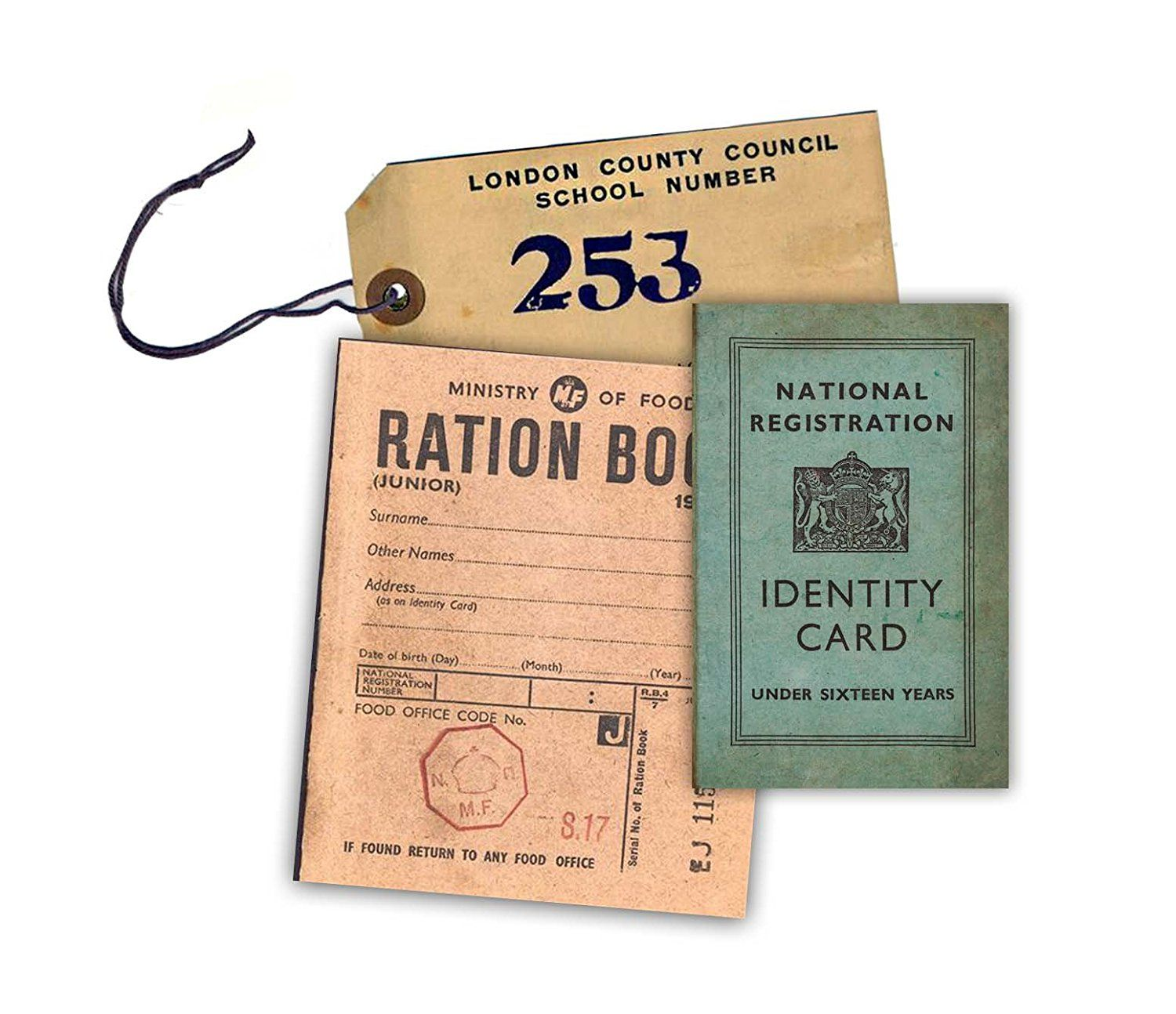 Designer Replica Amazon Ww2 Replica Ration Book Evacuee Tag And Identity Card By
