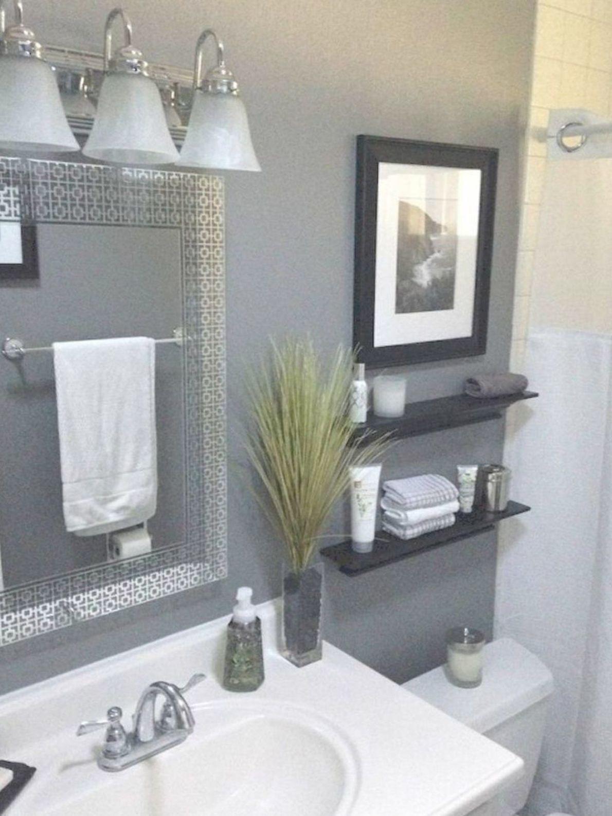 48 Classy Small Bathroom Ideas Guest Bathroom Decor Gray