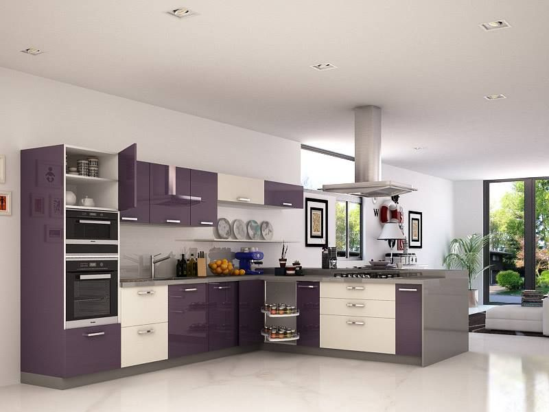 Kitchen Plywood Designs Crisp simple and modern plywood kitchen