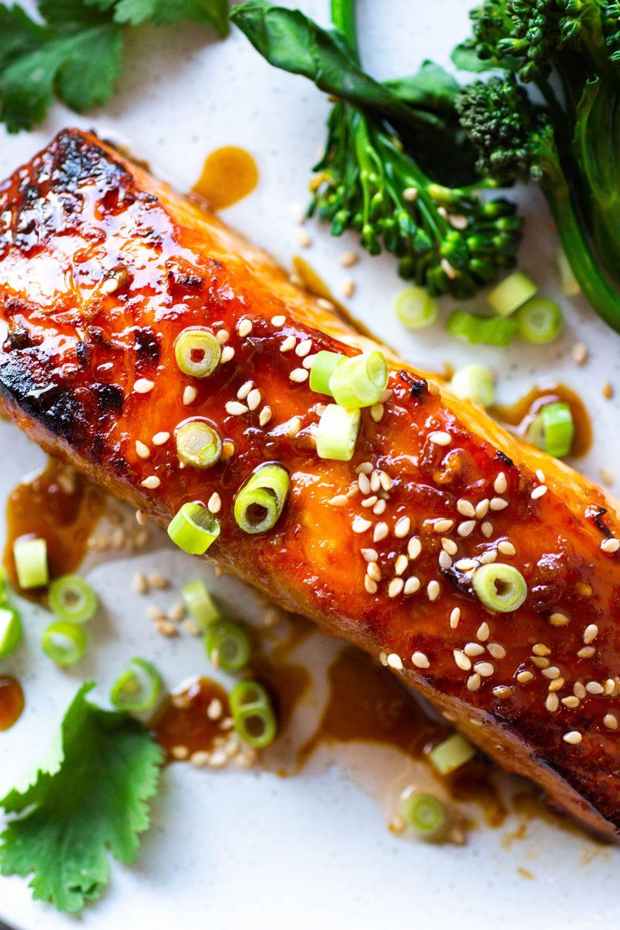 Easy Paleo Teriyaki Salmon (paleo + soy free) #teriyakisalmon