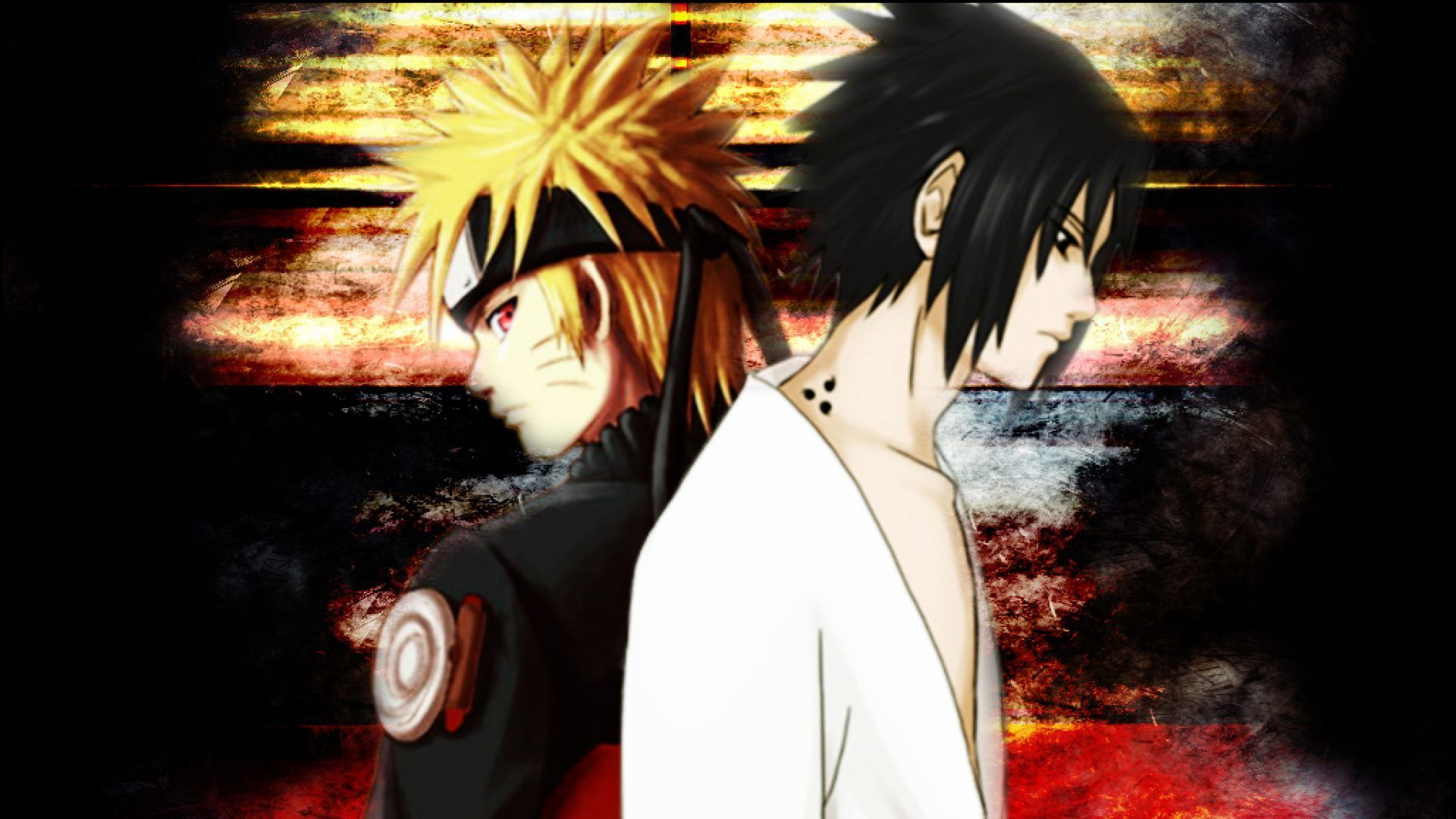 Wallpaper Naruto Dan Sasuke
