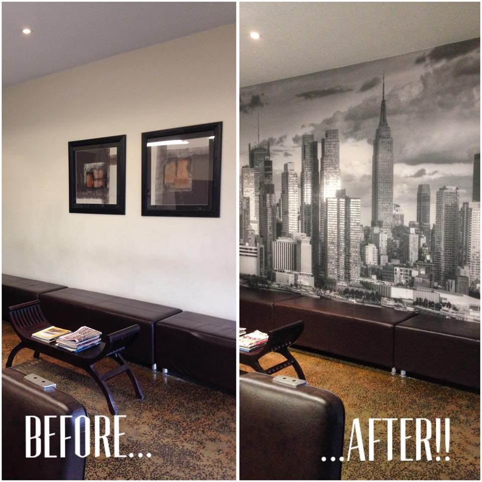 New York Skyline Wallpaper For Bedroom Black And White New York Skyline Before After Install