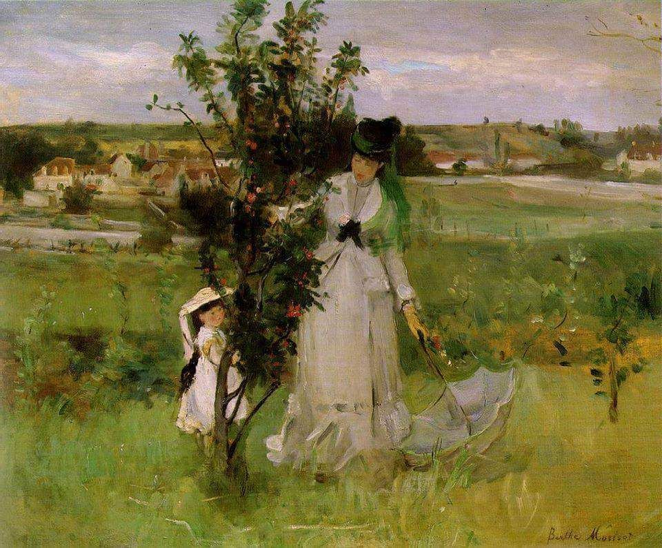 """Hide and seek"" ""Caché-caché"" (1873)  Berthe Morisot, from Bourges, France (1841 - 1895)"