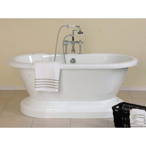 Mansfield Acrylic Double Ended Pedestal Tub Rim Faucet Drillings