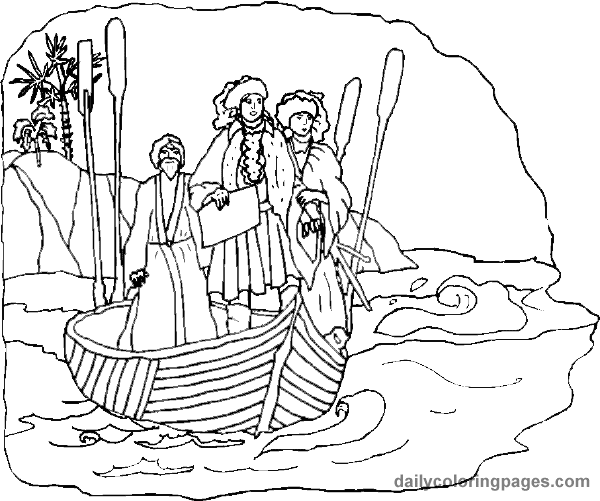 Coloring Pages For Columbus Day Free From Daily