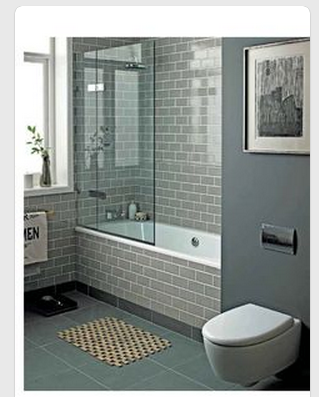 partial shower door - colours & tiles (with images