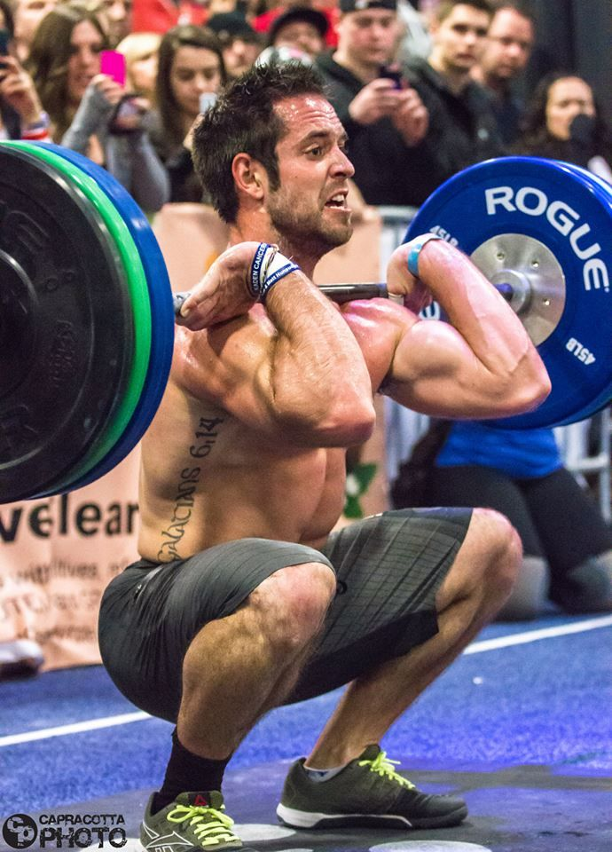 Front Squat - Rich Froning getting good depth in that front squat and  staying tall with his upper body! e11127aff