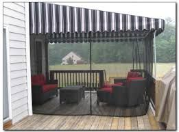 Retractable awning with mosquito curtains | Pergola ...