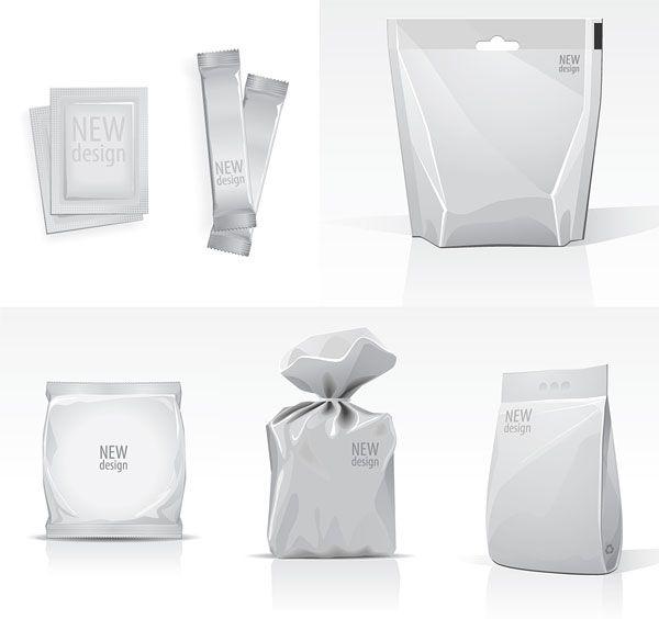 Free Download Blank Bag Template Vector Material Packaging