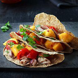 Tacos Z Pieczonym Miesem I Salsa Mango Kwestia Smaku Cherry Tomato Recipes Savoury Food Cooking