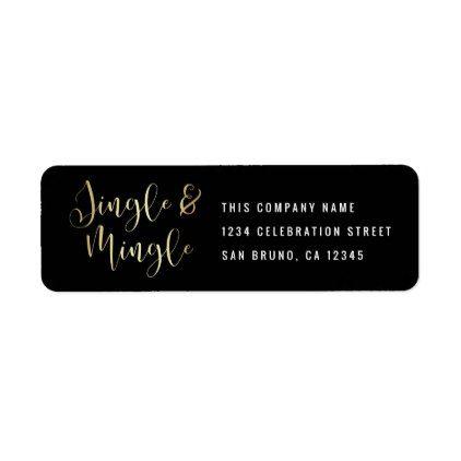elegant corporate jingle mingle party label script gifts