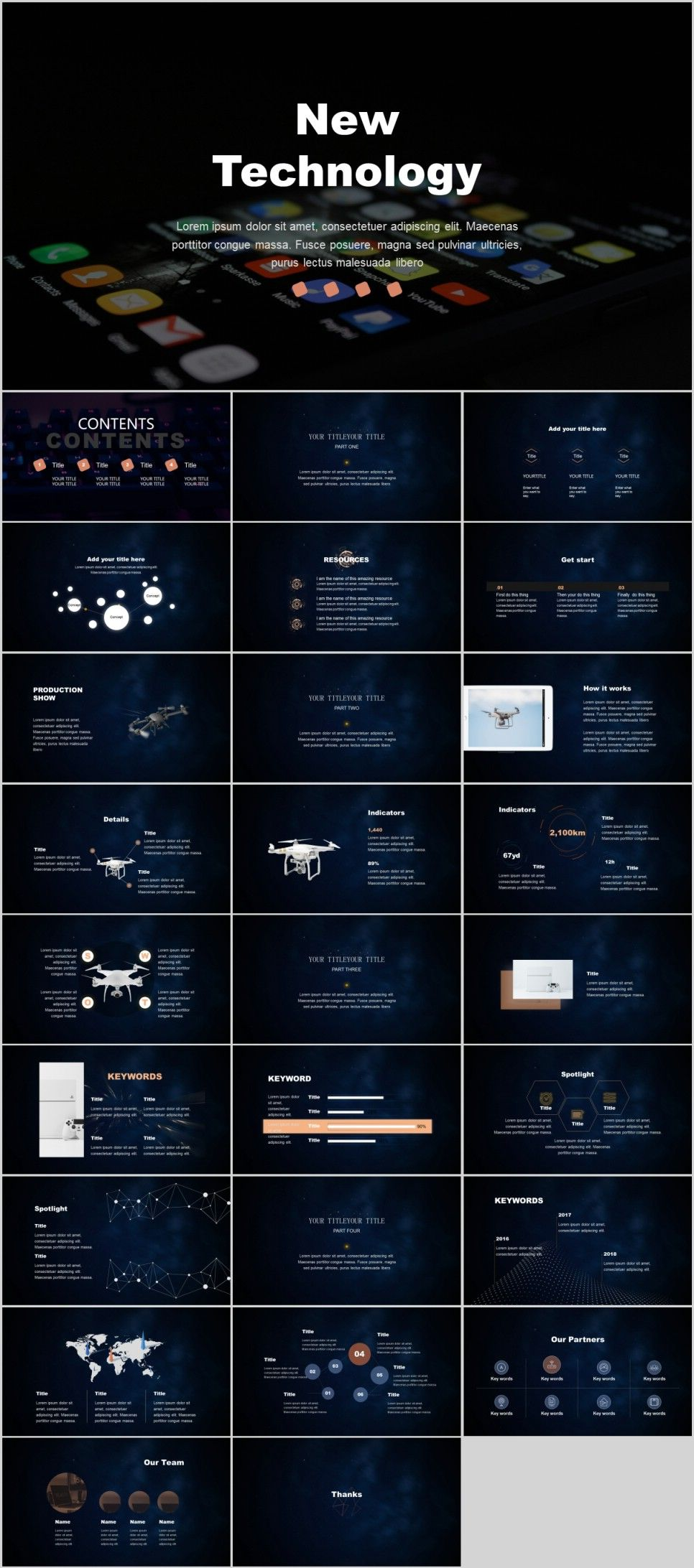 27+ Best technology Creative PowerPoint template