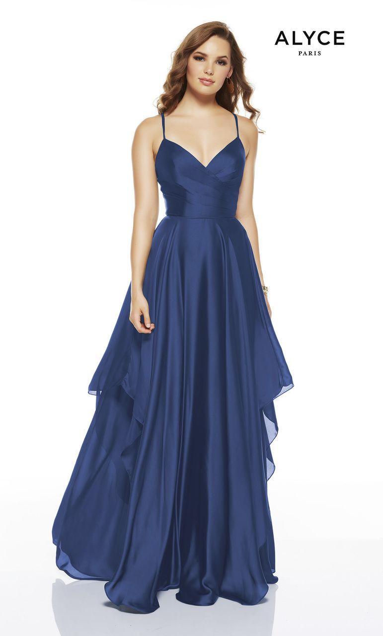 Formal Dress 1514 Long Sweetheart Neckline Flowy Alyce Paris Prom Dresses Girls Formal Dresses Chiffon Prom Dress [ 1280 x 771 Pixel ]