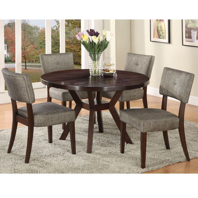 Drake Espresso Finish Side Chair (Set of 2) Kitchen Dining Room Furniture Seat