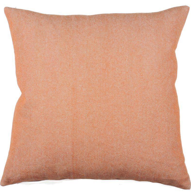 Twill Stripe 100% Cotton Throw Pillow