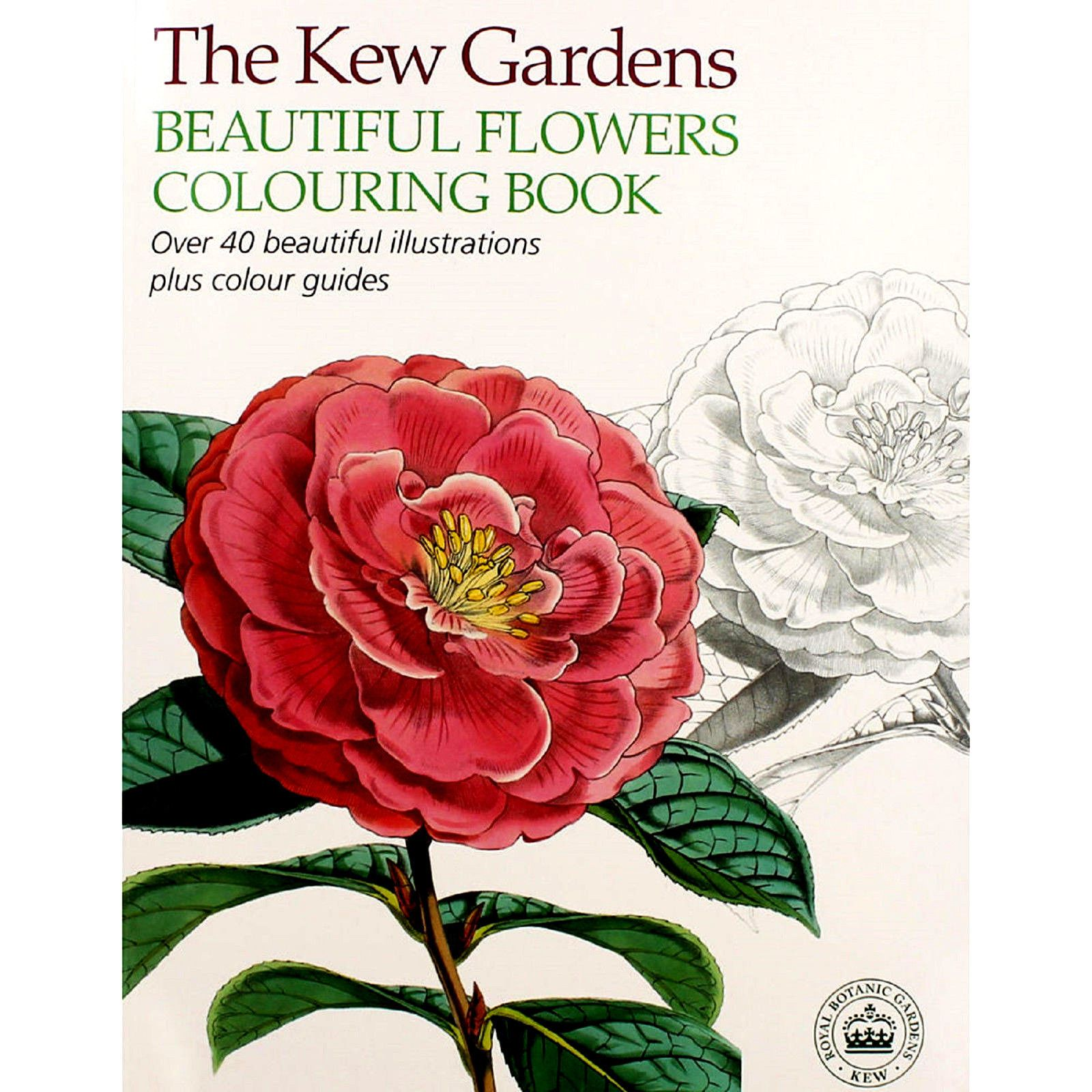 Kew gardens #beautiful flowers #adult #colouring book (new large ...