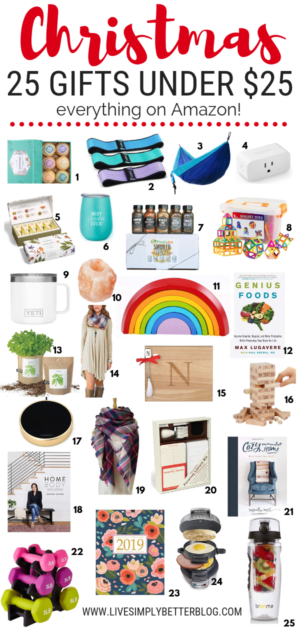 25 Gifts Under 25 Amazon Christmas Gifts Inexpensive Christmas Gifts Christmas Gifts For Parents