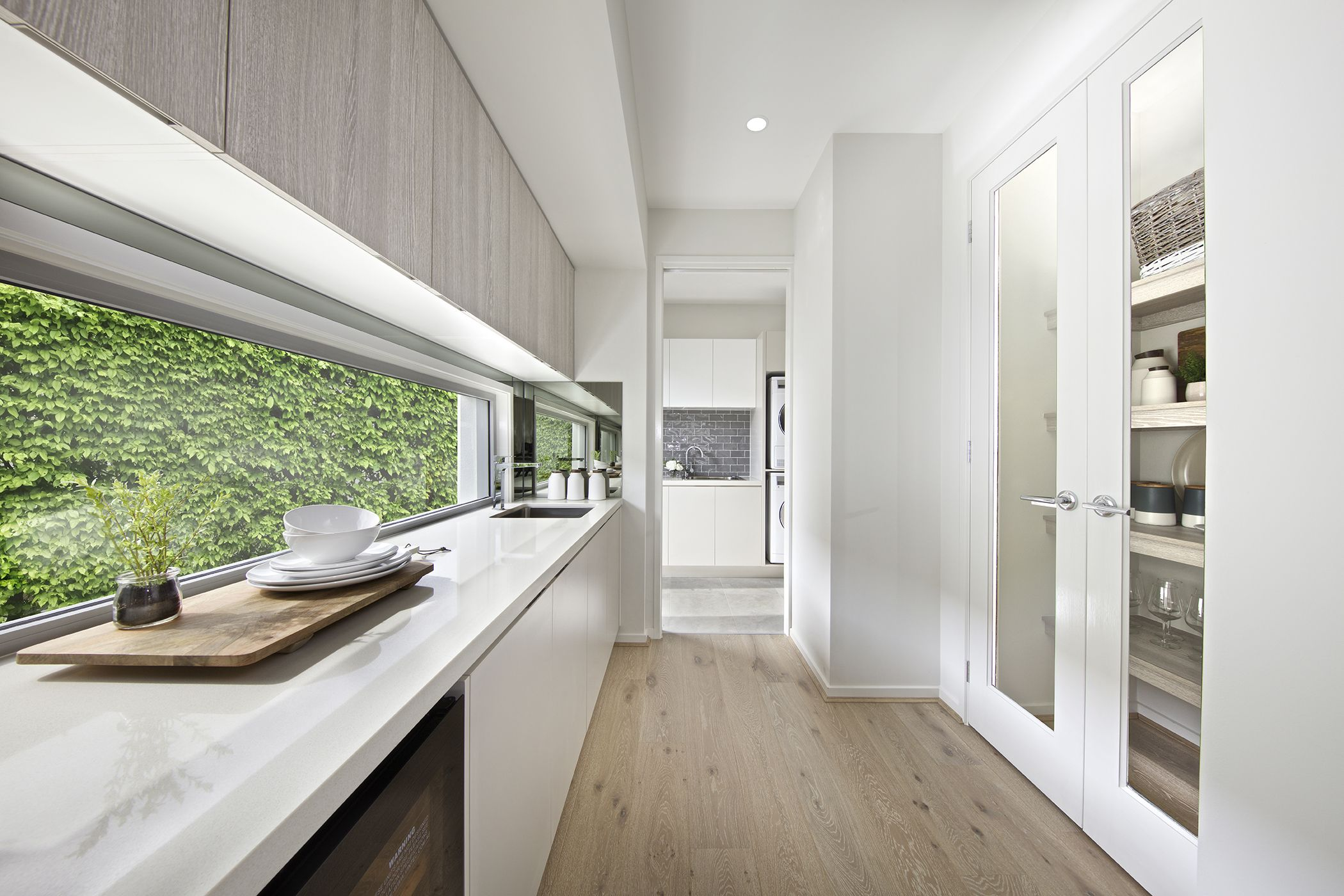 Clarendon Homes. Bayside 39. Butler\'s pantry leading through to ...