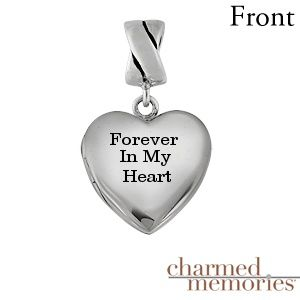 Kay - Charmed Memories Heart Locket Charm Sterling Silver
