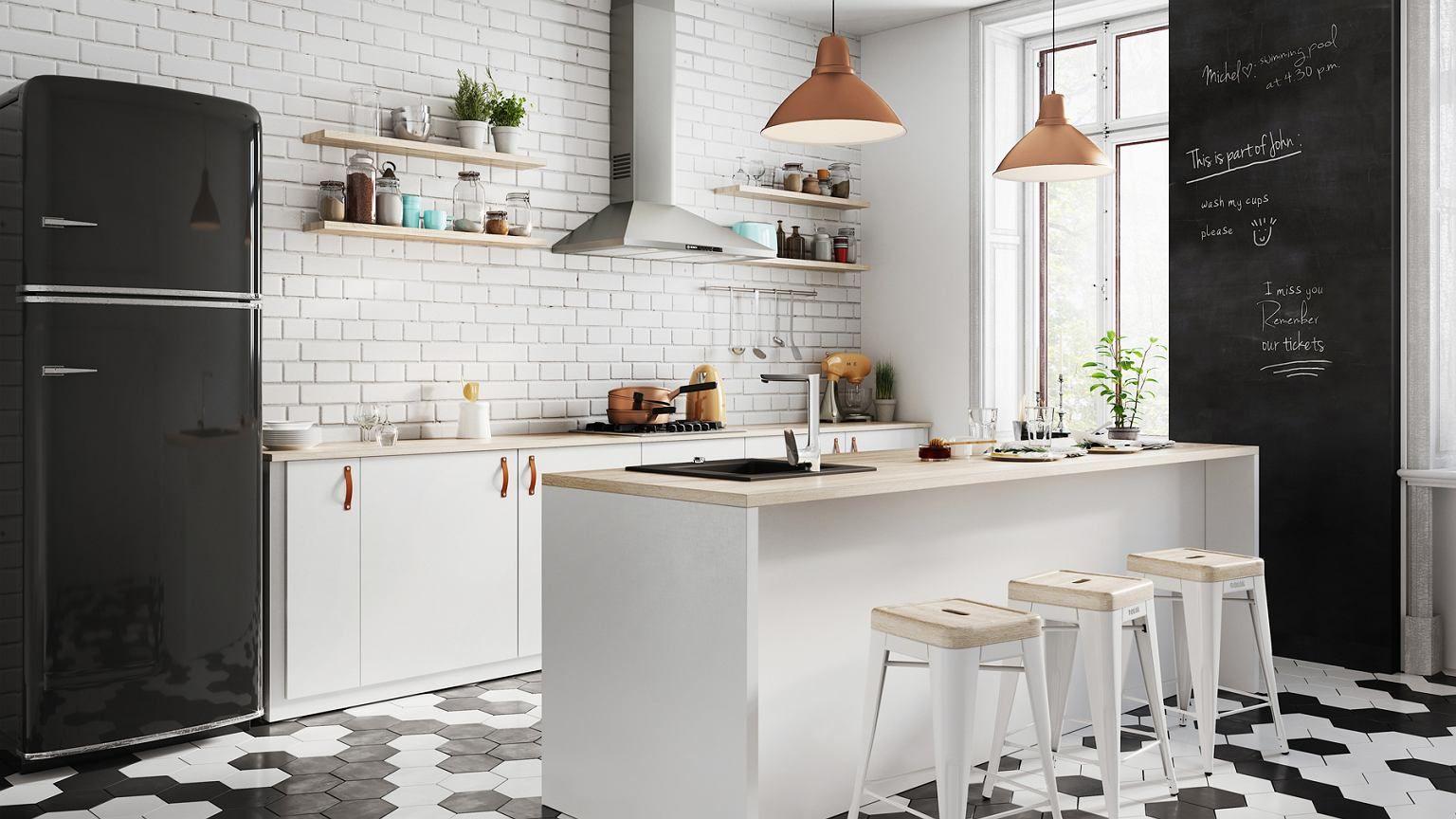 Otwarta Kuchnia Powieksza Przestrzen W Domu Przy Mniejszej Liczbie Scian Nawet Male Mieszka Kitchen Inspirations Scandinavian Kitchen Interior Design Kitchen