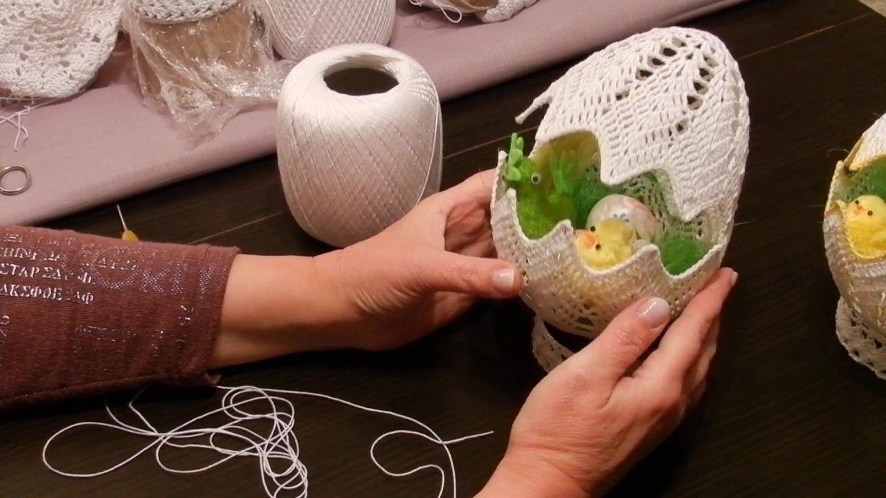 Szydelko Wioli Duze Jajo Stroik 20 Cm Easter Crochet Doilies Crafts Crochet Ornaments