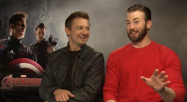 Look Avengers: Age Of Ultron' Cast Members Chris Evans, Jeremy Renner ...