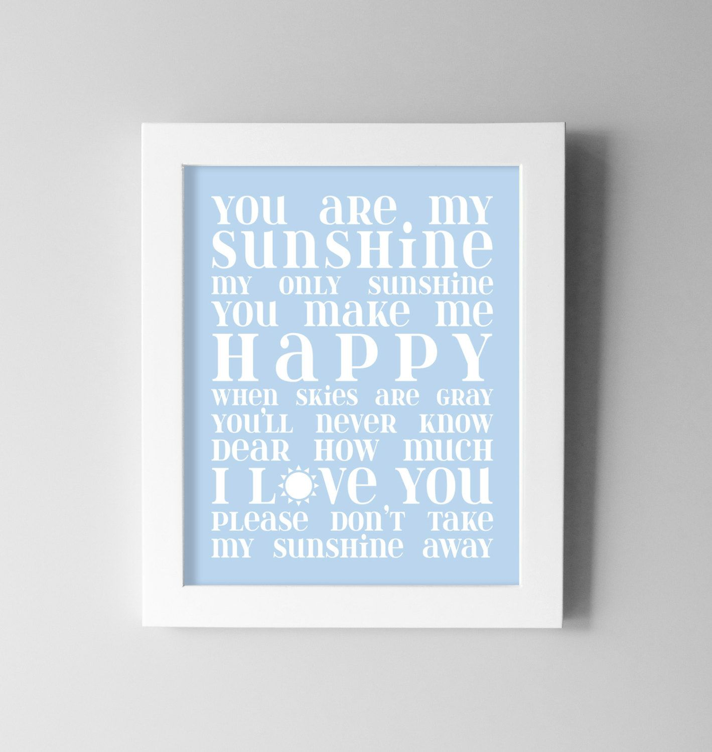 baby boy wall art you are my sunshine nursery decor blue nurser