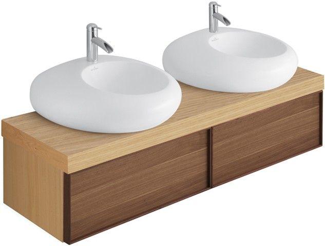 Villeroy \ Boch PURE STONE - Vanity unit 1590 x 400 x 450 - villeroy und boch badezimmermöbel