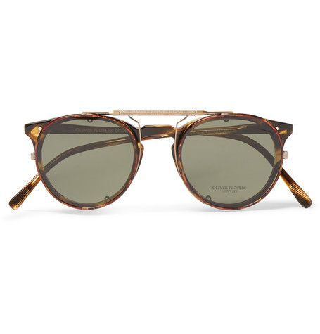 20f50d72179 Oliver Peoples - O Malley D-Frame Tortoiseshell Acetate Optical Glasses  with Clip-