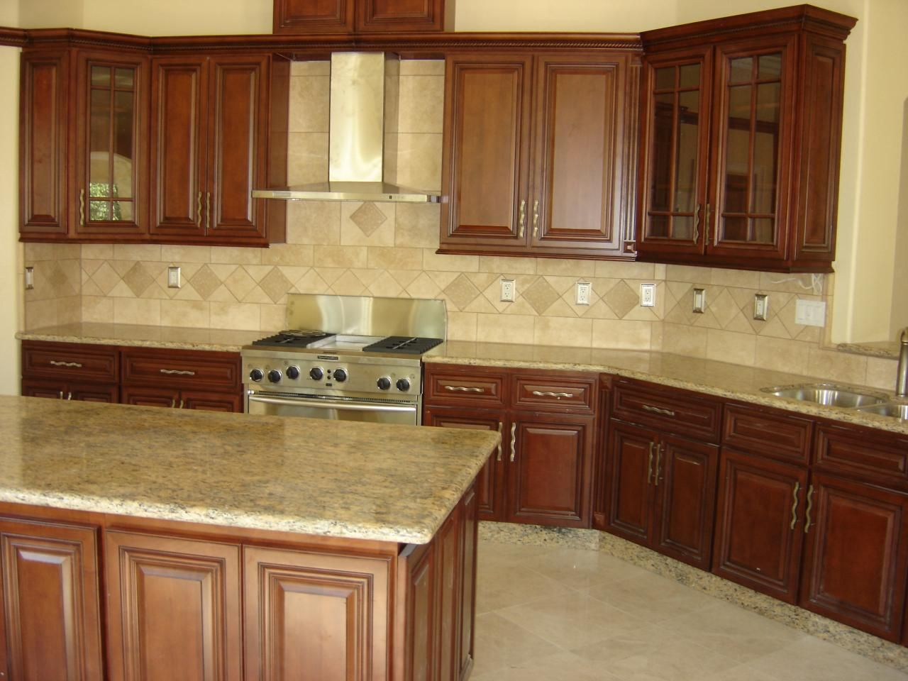 Honey+Maple+Cabinets+with+Granite | ... Wood Maple Glaze