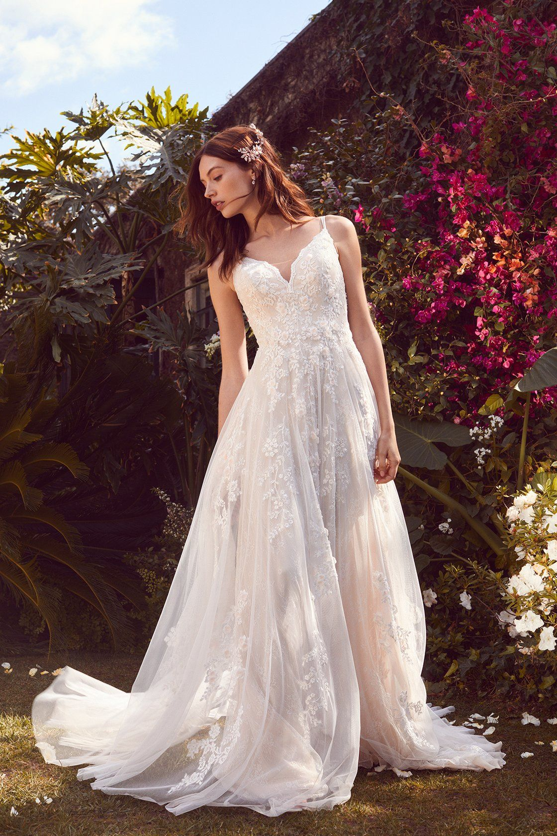 David bridal wedding dress  We are dreaming about this romantic aline wedding dress at an