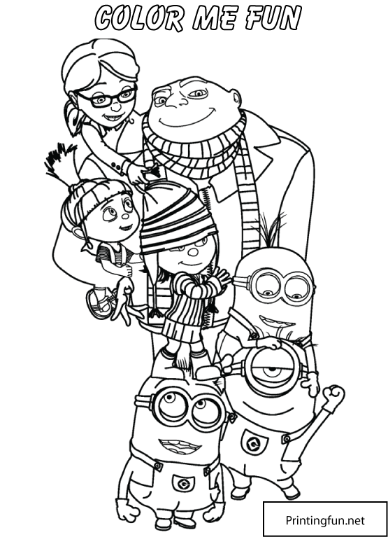 Color_Page_949616.png (555×767) | Minions - Gathered together to ...