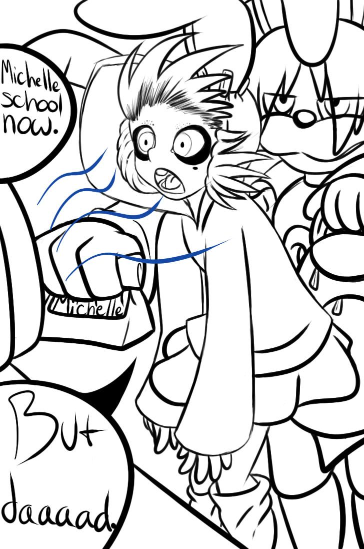Fnaf coloring page fnaf pinterest five nights at freddy s - Bonnie And Michelle Lineart I Won T Color By Glitched