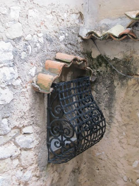 This mail box was photographed in the South of France