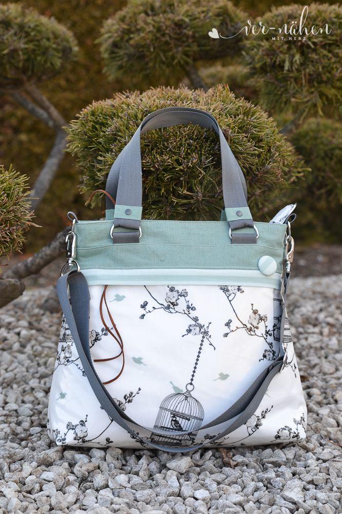 Tasche+Frühlingsliebe+von+Unikati+ | Taschen nähen | Pinterest ...