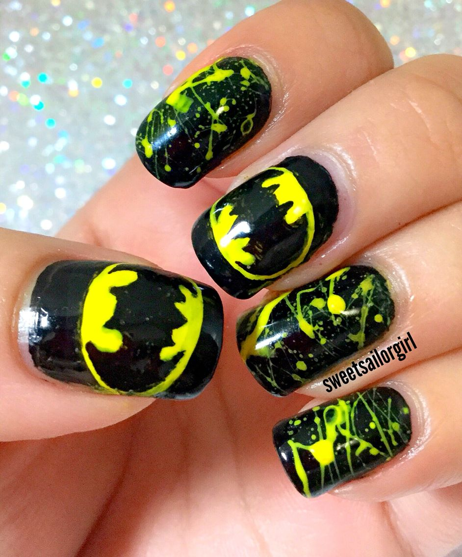 Halloween Series:Batman Nails Batman Nail Designs, Batman Nail Art,  Superhero Nails, - Halloween Series:Batman Nails Nails Batman Nails, Nails
