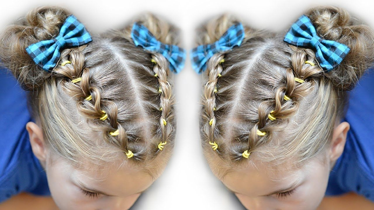 Pull Through Braid Pigtails Elastic School Hairstyle Hairstyles For School Pigtail Braids Pigtail Hairstyles