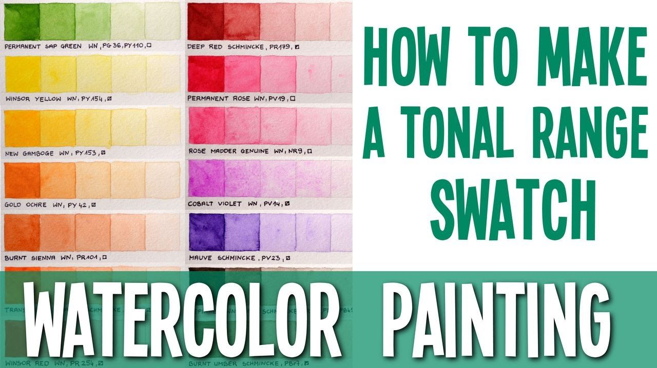 This Is A Quick Tutorial Of How To Paint A Tonal Range Swatch In A