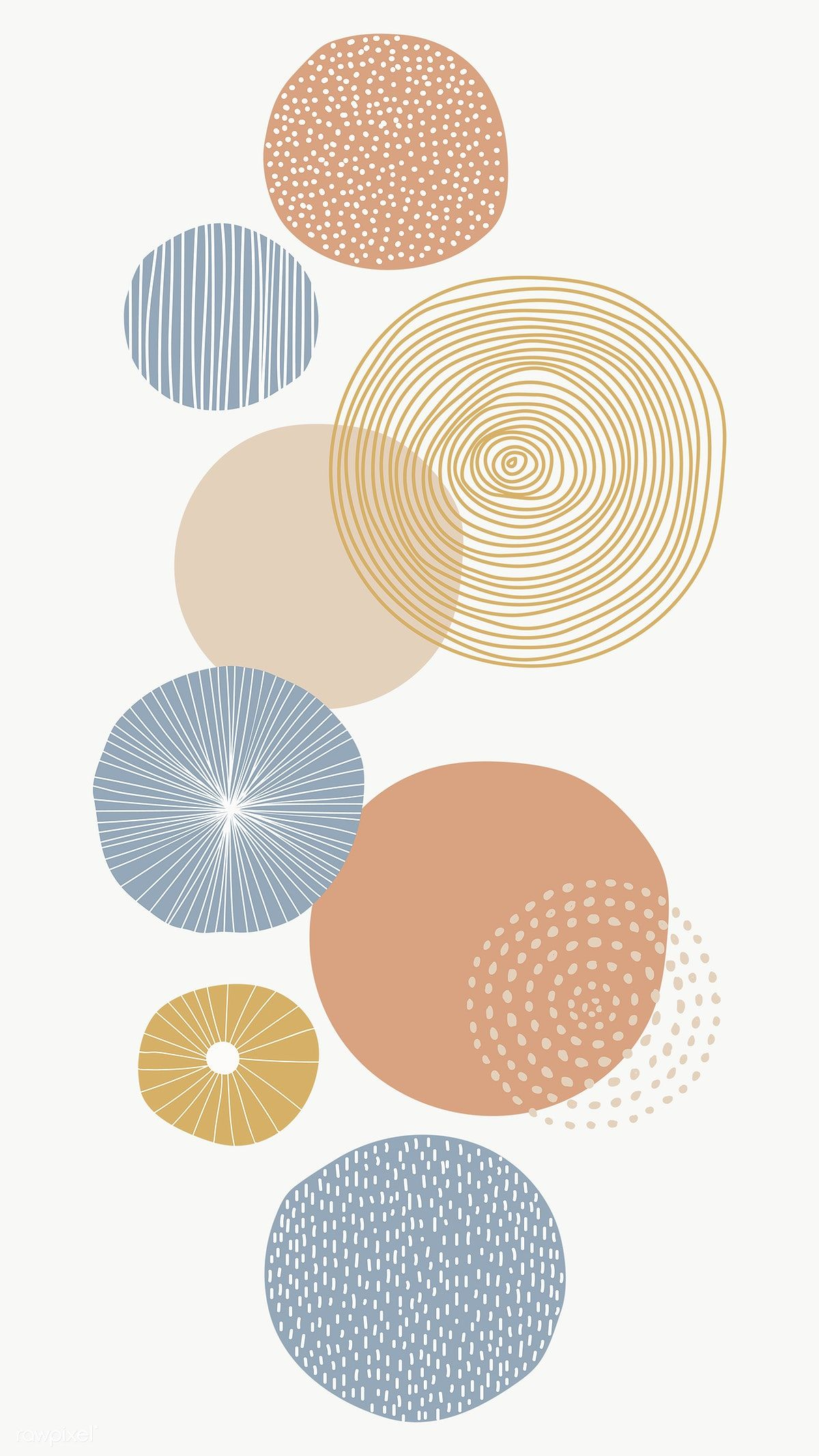 Round Patterned Background Transparent Png Premium Image By Rawpixel Com Nunny Geometric Art Prints Cute Patterns Wallpaper Geometric Art