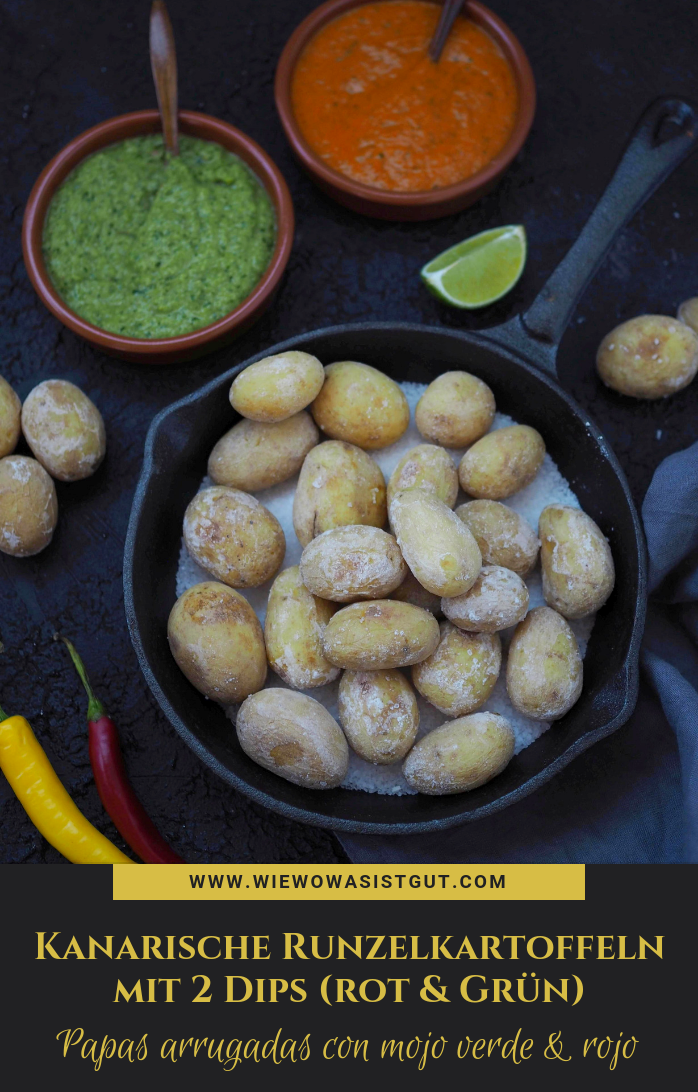 Photo of Papas arrugadas con mojo verde & rojo – Canarian wrinkled potatoes with 2 dips – food & travel blog