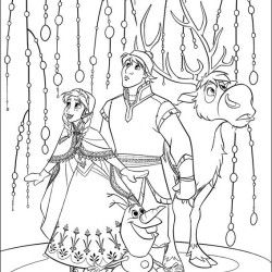 Anna Kristoff Sven Olaf Frozen Coloring PagesColoring