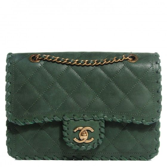 This Is An Authentic Chanel Metallic Suede Calfskin Small Hy Sch Flap In Green Structured Shoulder Bag Finely Crafted Of Shimmery Rich