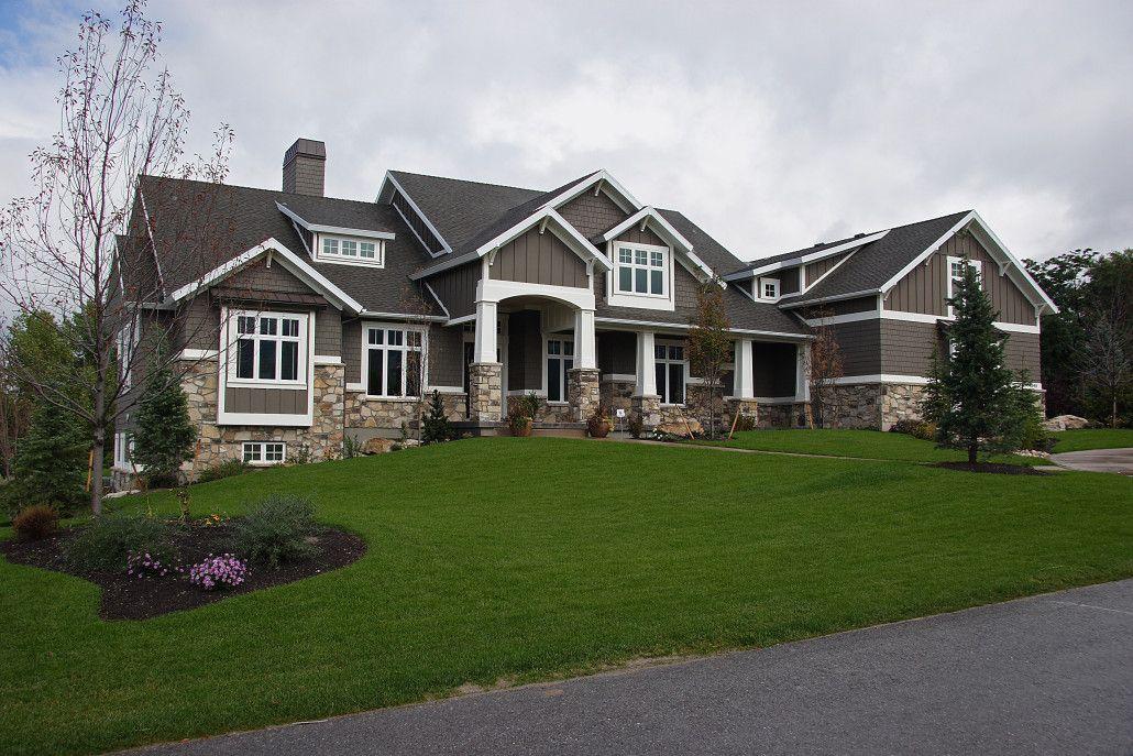 Utah custom home builders luxury homes custom homes field of dreams south jordan home for Luxury home exteriors