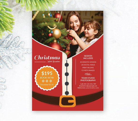 Christmas Mini Session Template, Christmas Photography Marketing