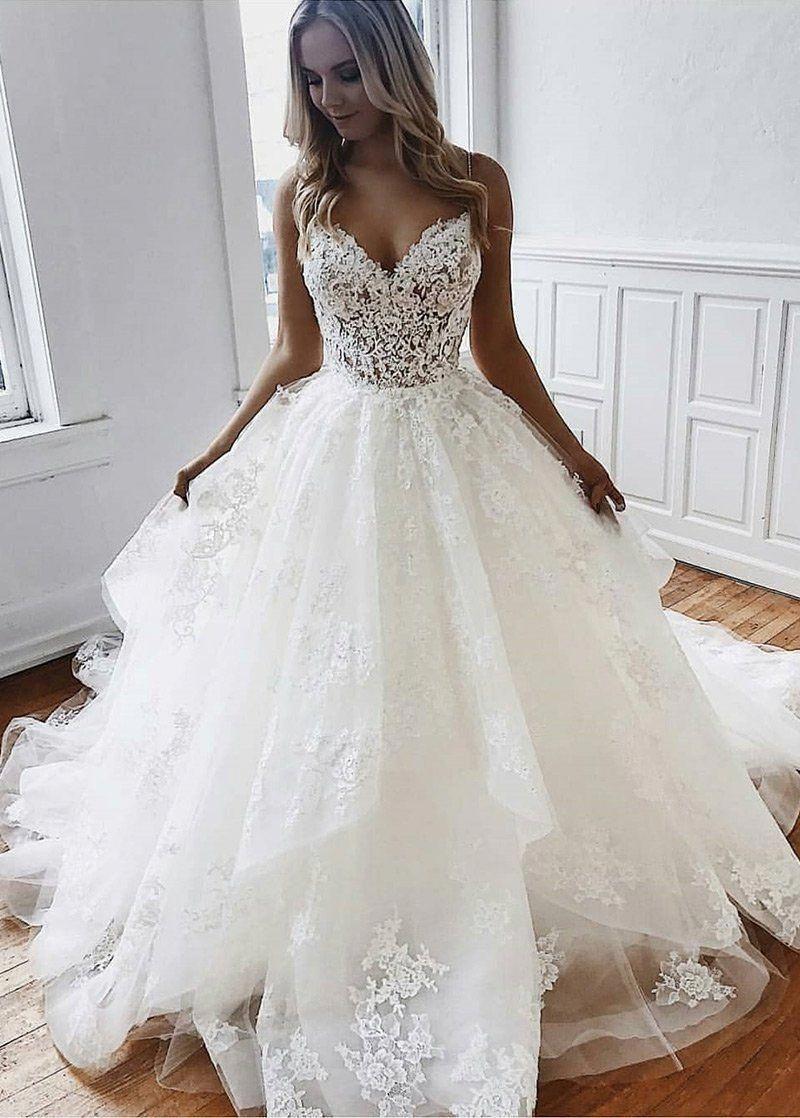 weddingdresses in 11  Ball gowns wedding, Spaghetti strap