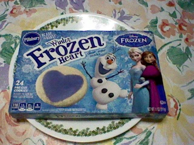 Pillsbury Pre Cut Frozen Heart Shaped Cookies That S Ready To Bake