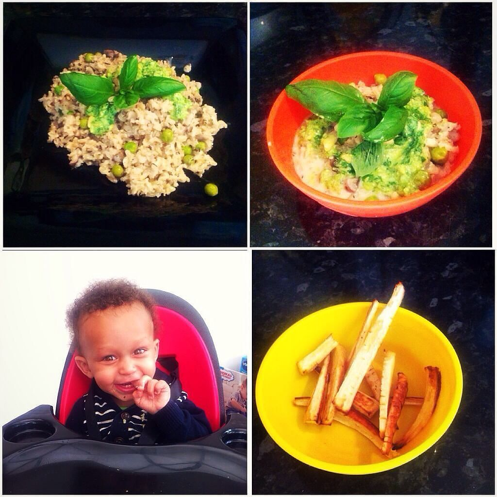 Dinner date with Mumma. Homemade mushroom risotto basil cream dressing and parsnip chips = eats better than most adults  #adventure #nature #naturelovers #outdoors #scenery #cute #mixedbabies #mixedbaby #mixedrace #vegan #vegansofig #veganbaby #plantbased #happy #healthy #like4like #likeforlike #l4l #instalike #instababy #instakids #photoftheday #food #foodporn by louannette1988 http://bit.ly/AdventureAustralia