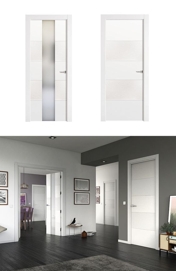 Puerta de Interior Blanca Modelo Vael de la Serie Imagin de