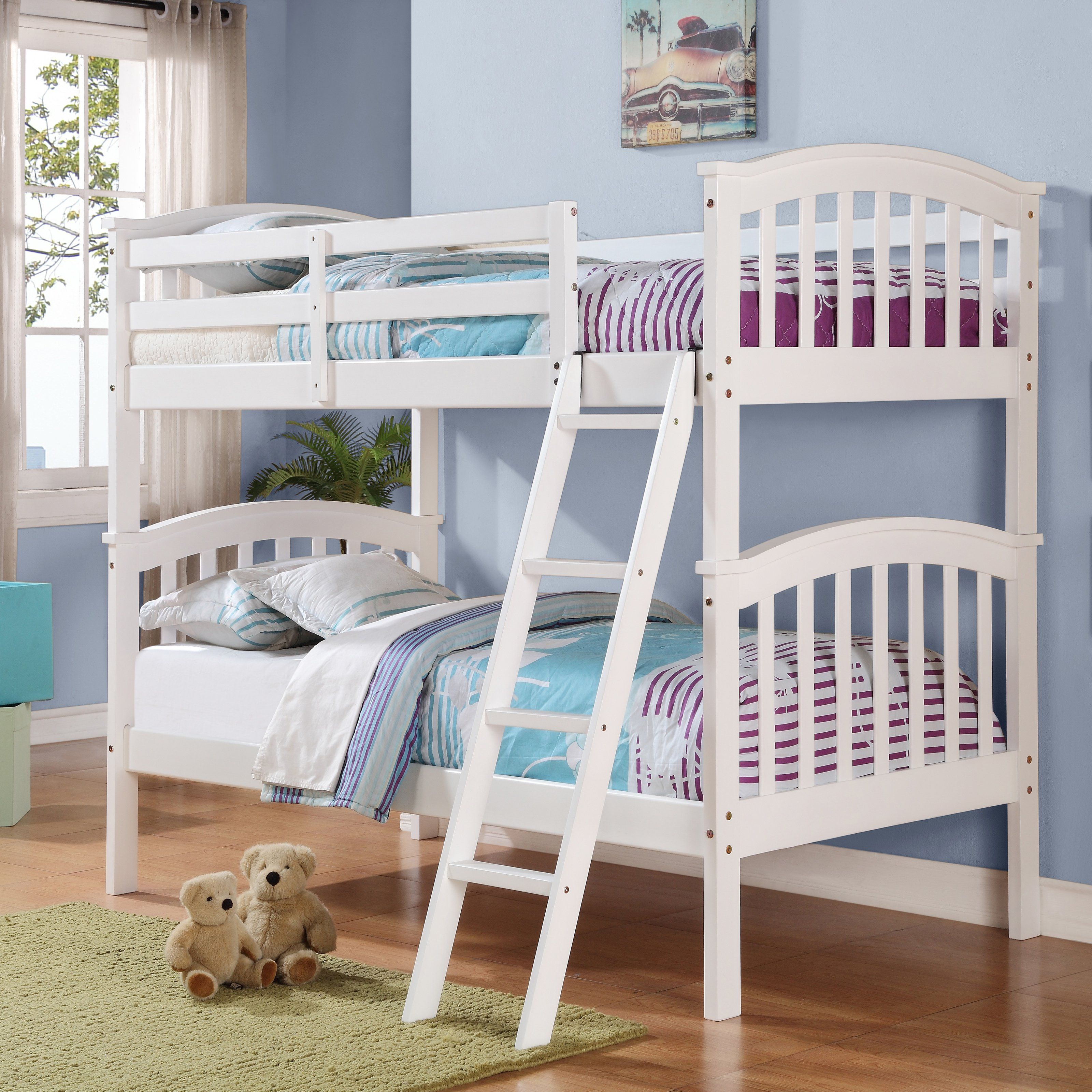 Donco Kids Columbia Twin Over Twin Mission Bunk Bed Bunk